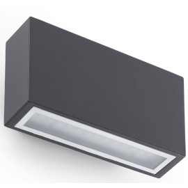Applique LED moderne d'extérieur en aluminium gris foncé Angèle