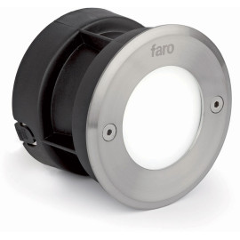 Spot encastrable d'extérieur en acier inoxydable LED Ø10 cm