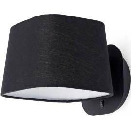 Applique moderne en métal et tissu noir Inès