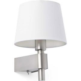 Applique moderne en métal chromé et tissu blanc Chloé