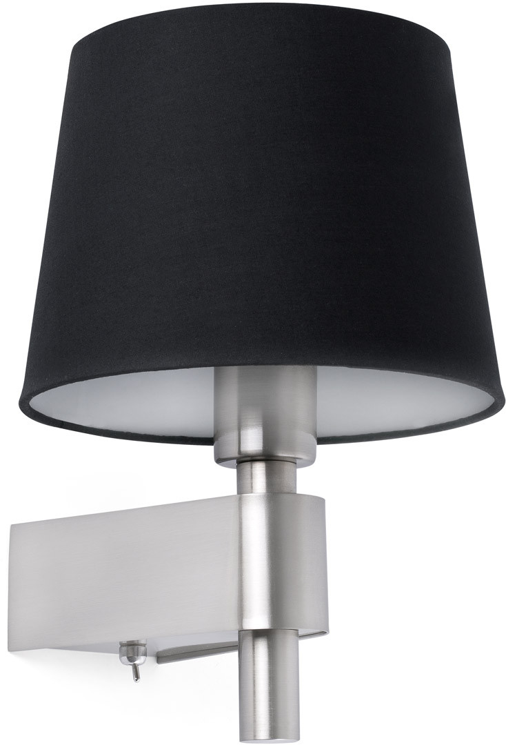 Applique moderne en métal chromé et tissu noir Chloé