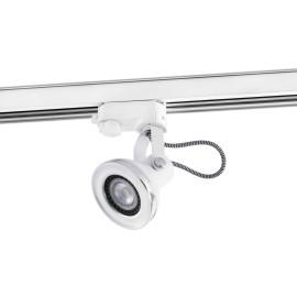 Spot sur rail design en métal blanc LED Saah