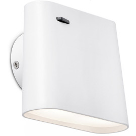Applique design led en métal blanc Alice