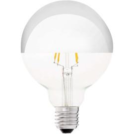 Ampoule décorative argent LED E27 4W Ø9,5 cm 400Lm