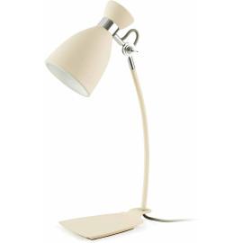 Lampe de bureau design en métal beige Mathilde