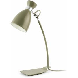 Lampe de bureau design en métal vert olive Mathilde