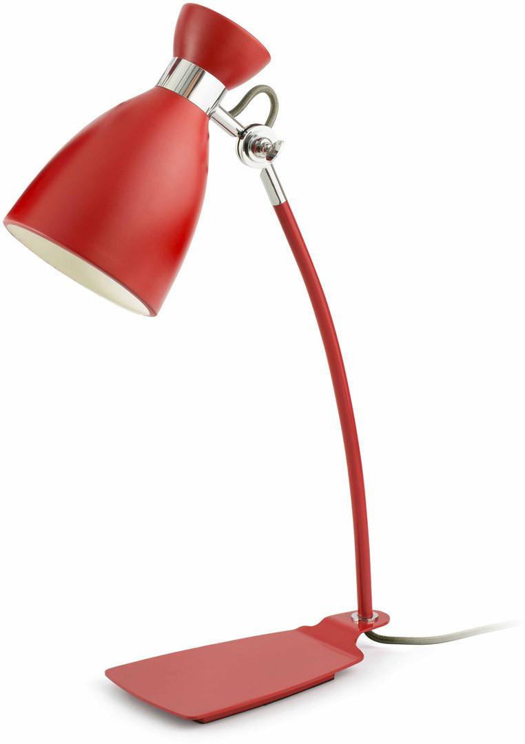 Lampe de bureau design en métal rouge Mathilde