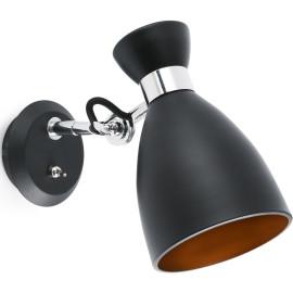 Applique design en métal noir et or Mathilde