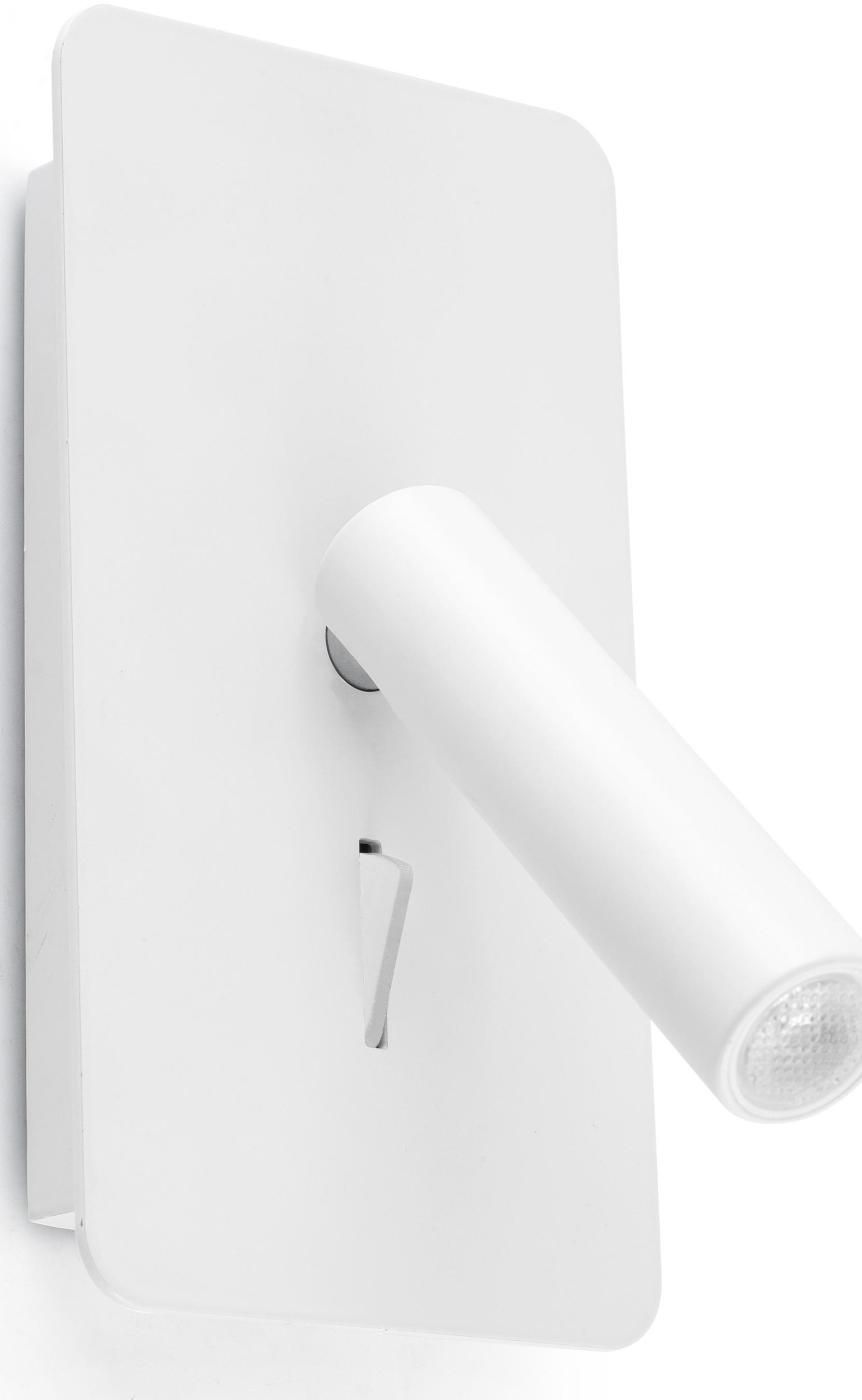 Applique moderne en acier et aluminium blanc LED Anna