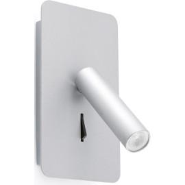 Applique moderne en acier et aluminium argenté LED Anna