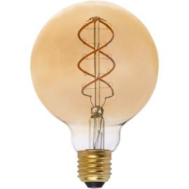 Ampoule décorative ambre LED E27 5W Ø9,5 cm 250Lm