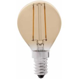 Ampoule décorative ambre LED E14 2W Ø4,5 cm 200Lm