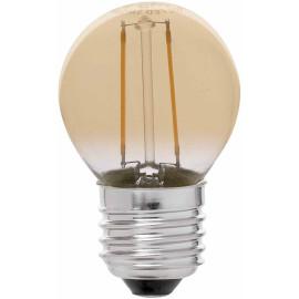 Ampoule décorative ambre LED E27 2W Ø4,5 cm 200Lm