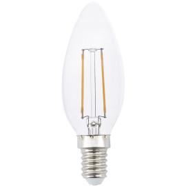 Ampoule flamme LED E14 2W 3,5 cm H10 cm 220Lm