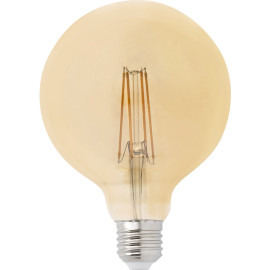 Ampoule decorative ambre LED E27 4W Ø12,5 cm 400 Lm