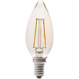 Ampoule chandelle ambre LED E14 2W Ø3,6 cm 200 Lm