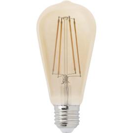 Ampoule décorative ambre LED E27 4W Ø6,4 cm 400 Lm