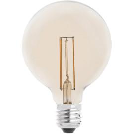 Ampoule décorative ambre LED E27 4W Ø9,5 cm 400 Lm