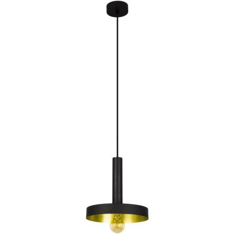 Suspension design en métal noir et or Ø25 cm Anna