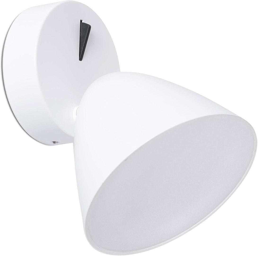Applique design en aluminium blanc LED Charlotte