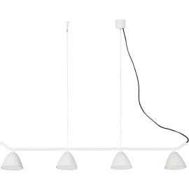 Lustre design en aluminium blanc 4 spots LED Charlotte