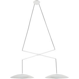 Lustre moderne en métal blanc 2 lampes Ø40 cm Marie
