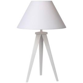 Lampe de table design métal et tissu blanc Mokuzai