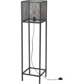 Lampadaire carré industriel en métal gris Manon