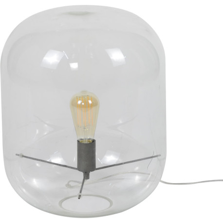 Lampe de tabe moderne en verre transparent Eloïse