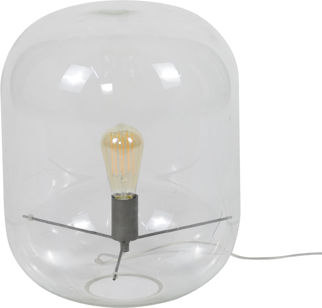 Lampe de table moderne en verre transparent Eloïse