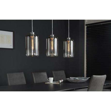 Suspension moderne en métal 3 lampes en verre Charlie