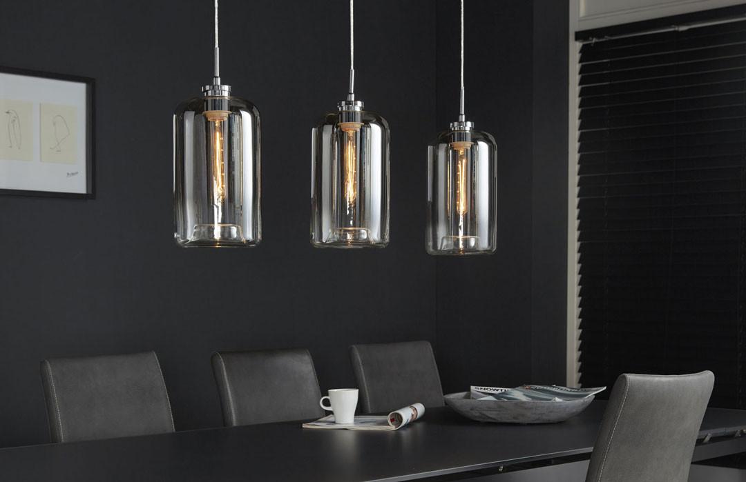 3 Moderne En Charlie Métal Suspension Verre Lampes lKT1c5JFu3