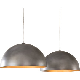 Lustre moderne en métal gris 2 lampes Ø 50 cm Lise