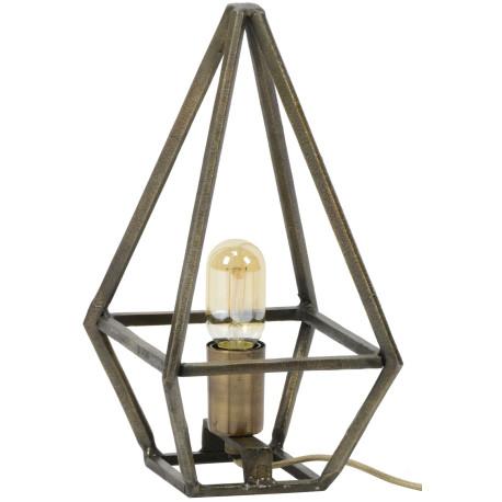 Lampe de table en métal bronze antique Victoria