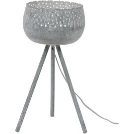 Lampe à poser vintage en métal gris Anaelle