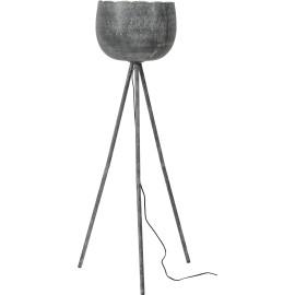 Lampadaire vintage en métal gris Anaelle