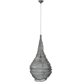 Suspension rustique en métal gris Ø 50 cm Emilie
