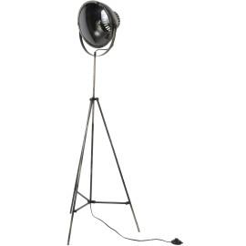 Lampadaire vintage en métal gris ancien Iris