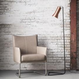Lampadaire vintage en métal couleur cuivre Agathe