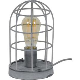 Lampe de table industrielle en métal gris Ø 15 cm Violette