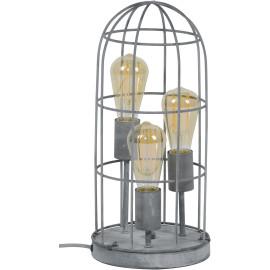 Lampe de table industrielle en métal gris Ø 15 cm 3 lampes Violette