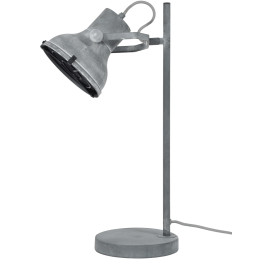 Lampe de table industrielle en métal gris aspect béton Constance
