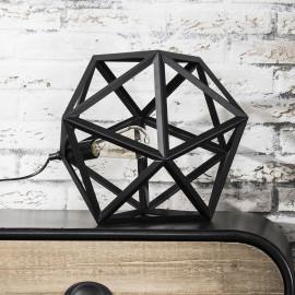 Lampe de table vintage en métal noir Salomé