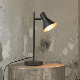 Lampe de table vintage en métal noir Ambre