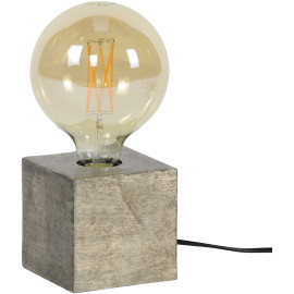 Lampe à poser industrielle en métal coloris argenté Cubix