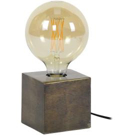 Lampe à poser industrielle en métal coloris bronze Cubix