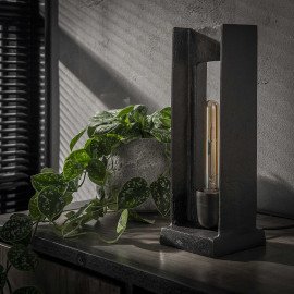Lampe de table industrielle en métal Clément