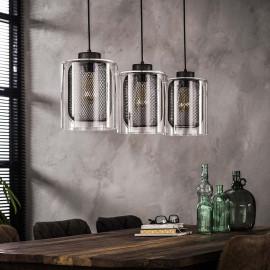 Suspension industrielle 3 lampes Ø20 cm Arnaud