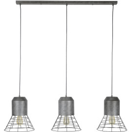 Suspension industrielle 3 lampes Ø30 cm Agnès