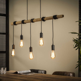 Suspension industrielle 5 lampes suspendues Corentin